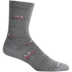 Icebreaker Lifestyle Fine Gauge Cadence Crew-Cut Socken gritstone heather